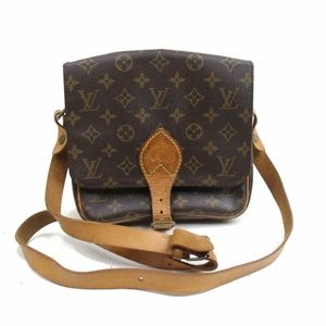 Auth Louis Vuitton Cartouchiere Mm #1368L20